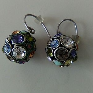 Colored Sparkling Earrings